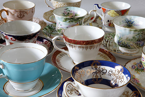 Vintage china cups and saucers