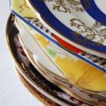 Vintage china plates