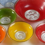 Retro dessert bowls